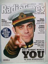 Radio Times magazine, 27 May-2 June, 2006. Doctor Who Stickers, Robbie Williams