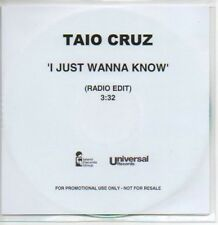 (M579) Taio Cruz, I Just Wanna Know - DJ CD