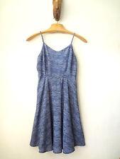 SZ M OLD NAVY Navy Batik Casual Sun Summer Beach Spaghetti Knee Dress