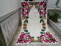 Moroccan Handmade Berber Rug Azilal Wool Carpat Vintage Tribal Rug 5.3 × 9.5 ft