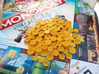 [FREE SHIPPING] Monopoly Gamer Board Game Coins | 100 Coins Total | 3D Printed