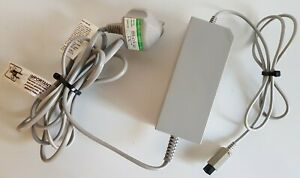 🔥Tested OFFICIAL Nintendo PSU RVL-002 Wii Power Supply UK Plug AC Mains