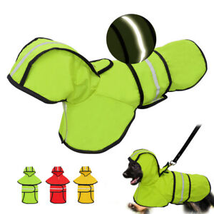 Dog Raincoat Reflective Rain Jacket Waterproof Pet Clothes For Small Medium Dogs