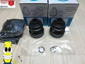 Rear Inner & Outer CV Axle Boot Kit For Honda CR-V 1997-2001 with AWD EMPI Boots