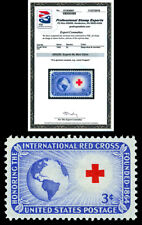Scott 1016 1952 3c Red Cross Issue Mint Graded Superb 98 NH with PSE Certificate