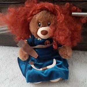 Build A Bear Disney Princess Merida Brave Dress Bow Arrow Costume Plush bear