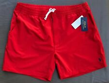 Polo Ralph Lauren Men XL Prepster 6 in Red Swim Shorts Trunks NEW