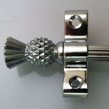 """3/8"""" POLISHED CHROME REED STAIR RODS THISTLE FINIAL SET OF 13 (R03RET)"""