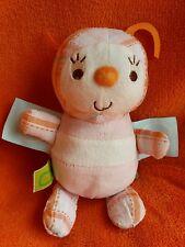 "Orange Pink Bug Beetle Soft Toy~ Taggies Labels Soft Toy Comforter Doudou 7"""