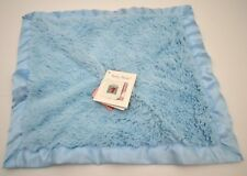 BABY BABY Blankets & Beyond Blue Brown Plush Satin Trim Lovey Security Blanket