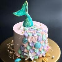 3D Mermaid Cake Silicone Mold Fondant Sugarcraft Soap Chocolate Mold Baking DIY