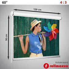 "60"" Rolleinwand Beamerleinwand Beamer Leinwand Projektionsleinwand 4:3 120x90 cm"