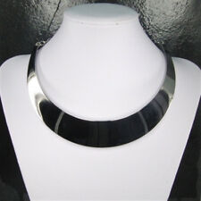 Modische breite Halsspange Halskette Halsreif aus poliertem Edelstahl