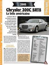 FICHE TECHNIQUE VOITURE CHRYSLER 300 C SRT8 2005