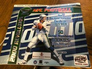 2000 Pacific Revolution Football Sealed Hobby Box Tom Brady RC Year SSP 1/1 Box