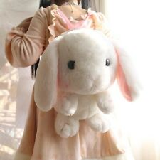 Lolita Cute Bunny Kawaii Long Ear Rabbit Plush Doll Girls Backpack Shoulders Bag