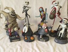 Nightmare Before Christmas Sculpture Figurine Set Jack Sally Zero Mayor Limited