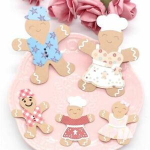 Gingerbread Family Add-On Clothes Metal Cutting Dies Stencils Scrapbooking Decor