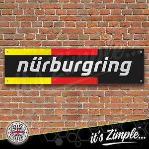 Nurburgring German Flag Banner Garage Workshop Sign PVC Trackside Display