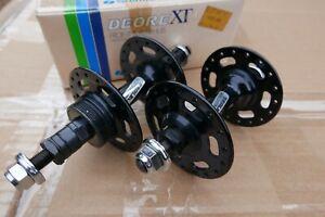 NOS Shimano DEORE XT M700 hubset hub BLACK Ritchey vtg mtb retro Deer Head Stag