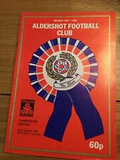 Aldershot v Cambridge United (Littlewoods Cup first round) 1987-88