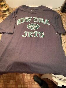 New York Jets NFL TEAM APPAREL T-Shirt Size L New No Tags Joe Namath Big Apple