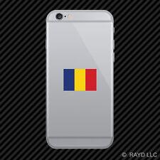 Romanian Flag Cell Phone Sticker Mobile Romania ROU RO