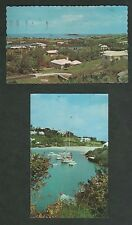2 Bermuda Postcards - 1980 Tuckers Town & 1968 Great Sound From Southampton
