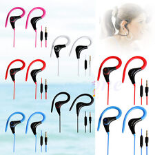 Wholesale 3.5mm Sport Earphones Headphone Headset with Mic For iPhone Samsung
