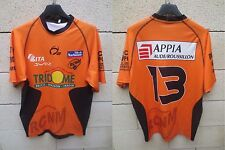 Maillot rugby porté n°13 RC NARBONNE H2 shirt orange moulant L