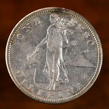 Raw 1907-S Philippine $1 Uncertified Ungraded Choice Original Silver Coin