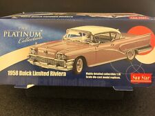 SunStar 1958 Buick Limited Riviera Coupe Colonial Blue MINT! 1:18 Diecast 4802