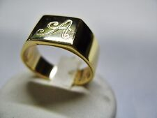 man woman ring 9k yellow gold engraving of initials included in the price