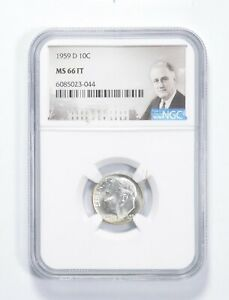 MS66 FT 1959-D - Roosevelt Dime - Graded NGC *008