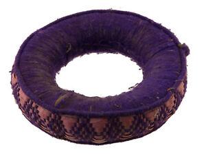 Cuscino Ciotola Tibetano Ø 13cm Antico Anello Cercle Portabambino Newari 25509