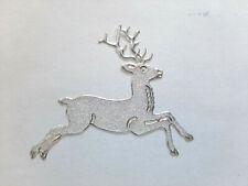 Stickerbogen, Weihnachten, Christmas, Rentiere, Glitzer, Weiß, Nr. 7076