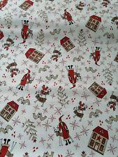 Tela De Algodón FQ Acolchar Navidad escandinavo Lynette Anderson Árbol de Santa
