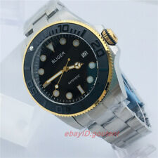 43mm BLIGER Black dial Sapphire crystal glass Japan NH35A Automatic Mens Watch 1