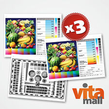 3 SETS OF HIGH RESOLUTION TEST CHARTS FOR LENS & CAMERA BY VITAMALL