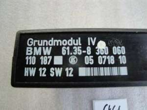 BMW E36 Grundmodul LOW Modul Steuergerät 8360060 Hw 12 Sw 12 GM LN44