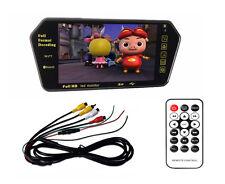 "7"" TFT LCD Color HD USB MP5 FM SD Car Rear View Bluetooth Mirror Monitor 2 AV"