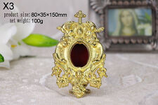 """Hanging Brass ornate Reliquary for church or home Relic +Religious 5.9""""H X3"""