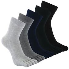 Men's Toe Socks Cotton Running Five Finger Mini Crew SocksUK 6-9/Eur 39-45