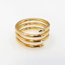 Gold Twisted Ring ,Gold Wrap Around, stacking ring cz gold filled 14k ring