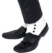 10new BIANCO UOMO ANNI '20 GANGSTER Ghette Costume Accessori