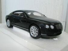 1/18 SCALE Minichamps BENTLEY CONTINENTAL GT BLACK METALLIC
