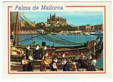 Postal de Palma de Mallorca. Agrupación folklórica Aires. Circulada 1989