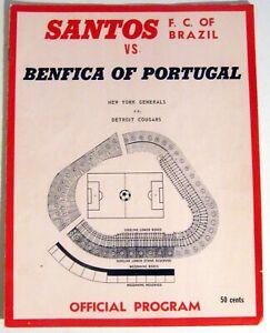 PELE of Brazil ~ 1968 Program of Soccer game at Yankee Stadium