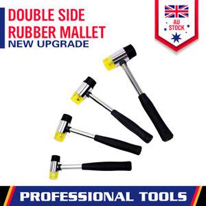 25/30/35/40mm Rubber Mallet Soft Face Hammer Double Side Grip Handle Shaft DIY
