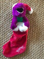 Barney The Purple Dinosaur Christmas Stocking